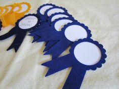 Omg so easy to make awardsribbonsflowersetc crafty prize ribbons first place blue and gold award ribbon felt award ribbons solutioingenieria Choice Image