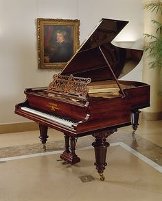 Grand Piano ~ Carl Bechstein ~ Berlin, Germany 1893. Some day I shall have a grand piano. Or any piano really.