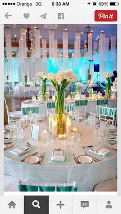 Cala centerpieces wedding white