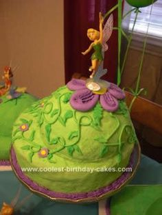 Homemade Pixie Hollow Cake Collection: My daughter is CRAZY about Tinkerbell, so for her third birthday, we decided to go big and make her a Homemade Pixie Hollow Cake Collection.  For the cake