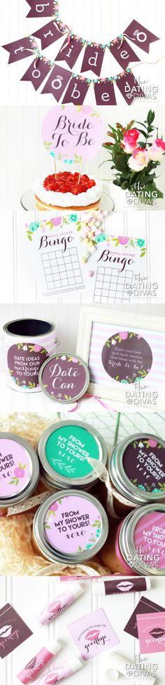 Printable Bridal Shower Party Pack- invitations, decorations, games, party favors, and EVERYTHING! I love this!!