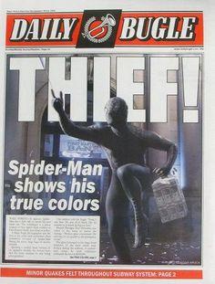 Spiderman: Daily Bugle Newspaper (Spiderman 3)