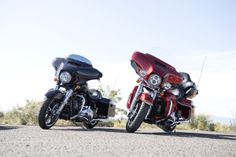 A dynamic touring duo, always in it for the long haul. | Harley-Davidson Project RUSHMORE Ultra Limited and Street Glide