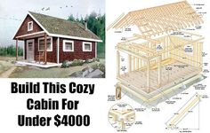Build This Cozy Cabin For Under $4000, cabin, cheap cabins, diy cabin, free plans, shtf, shelter, bug out location, shtf, prepping, homesteading,