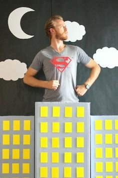 Make your own DIY Super Hero Photo Booth with our easy tutorial! by kathy