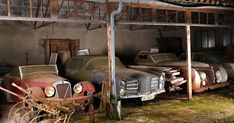 Even today, when the whole world has been mapped by GPS, there are still valuable hidden treasures left to discover. After calling in auctioneers, the grandchildren of entrepreneur Roger Baillon discovered that the collection of 60 vintage automobiles from the 1930s to the 1950s left to rust in sheds on the family's farm in western France could be worth £12 million or more at auction.