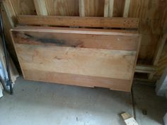 Fold away bench in down position.
