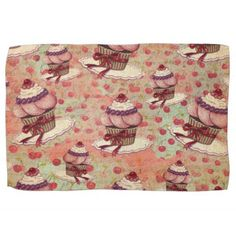 Retro Cupcakes Towel