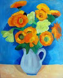 Znalezione obrazy dla zapytania kwiaty w wazonie malarstwo
