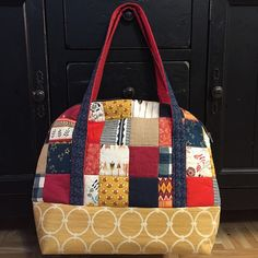 Sew Sweetness Aeroplane Bag by cozybychristine in fabric by Maureen Cracknell