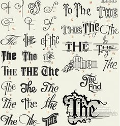 8 the typography font letterheadsfonts the end vintage writing titles noelsthesglyphs