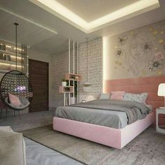 51 Cool Bedrooms With Tips To Help You Accessorize Yours Girl Bedroom Designs Accessorize bedrooms Cool tips Cute Bedroom Ideas, Cute Room Decor, Girl Bedroom Designs, Awesome Bedrooms, Ideas For Bedrooms, Bed Designs, Bedroom Styles, Bed Ideas, Bedroom Inspiration