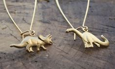 Dinosaur Earrings by Christine Domanic