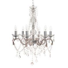 Chandelier for romantic interiors | WOLVEGA acrylic plastic ceiling light D 52cm | Maisons du Monde