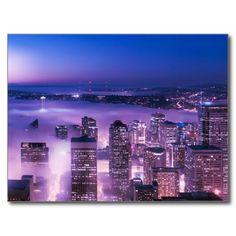 Purple Shades Seattle Panorama Post Card #postcrossing