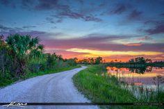 Martin County Florida Dirt Road Sunset