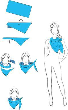Schals binden Technik 2: Wasserfalltechnik
