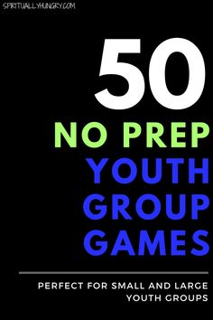 Need youth group games? We have 50 of them, and they are all no prep youth group games! Perfect for groups as little as 3 and as big as Check out these 50 no prep youth group games that are not dodgeball! Games For Big Groups, Youth Group Activities, Group Games For Kids, Activities For Teens, Teen Games, Youth Group Lessons, Family Games, Youth Group Crafts, Icebreakers For Youth