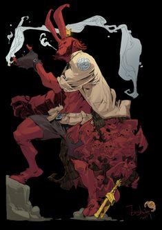 Hellboy by iershaoi