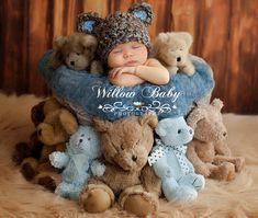 READY Baby Boy Hat Baby Bear Hat Baby Hat Made with por PamKR