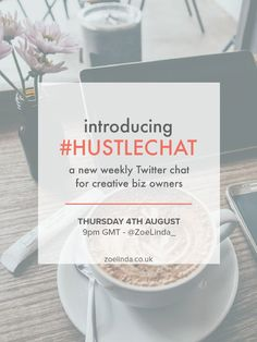 I'm so excited to announce that I am co-hosting a new Twitter Chat for creative business owners! #HustleChat will take place every…