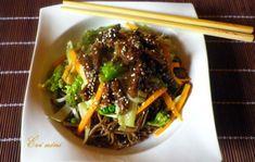 China Food, Wok, Japchae, Beef, Ethnic Recipes, Meat, Chinese Food, Steak