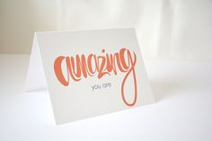 You Are Amazing - a beautiful way to tell that special person how much they mean to you What it is 1 colour greeting card printed on FSC Certified Paper with no additional packaging Each card is hand-folded and comes with a pink envelope Info Front Amazing You Are text Inside Blank Back Logo stamp Size A2