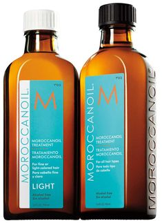 Argan oil is known to help stimulate growth and strengthen hair to make it grow healthier.  It deeply nourishes, hydrates and strengthens hair, plus it smooths down frizz, preventing split ends and leaves your hair silky soft.   Morooccan Oil Treatment, $43, MoroccanOil.com   Read more: http://beautyhigh.com/10-essentials-growing-hair/#ixzz3N583w1Z4