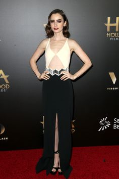 Lily Collins at the Annual Hollywood Film Awards.