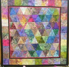 Modern Geometry Batik Quilt by BellaBarbaraDesign on Etsy