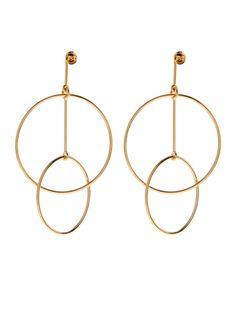 Double-circles drop earrings | Stella McCartney                                                                                                                                                     More