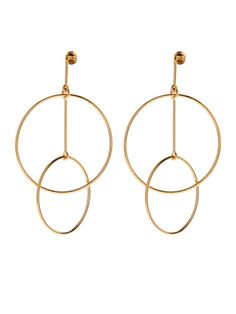 Double-circles drop earrings | Stella McCartney                                                                                                                                                     More