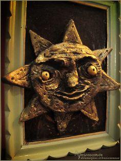 Sole Sun artwork sculpture by Vocisconnesse on etsy