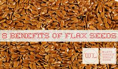 Flax seeds have many wonderful health properties. Here are 8 wholesome reasons why you should include them into yours and your family diet #Flax #Seeds #wholesomelinen #WholesomeBlog #WholesomeFood #LetsMakeItWholesome