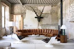 Ueli Berger DS600 sofa by De Sede and Geoffrey Harcourt swivel chairs by Artifort