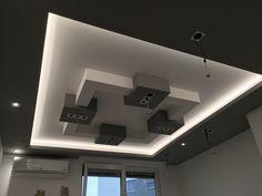 cube ceiling in LED lighting Plasterboard, Gypsum, Luz Led, Ceiling Design, Interior Design Kitchen, Ceilings, Track Lighting, Ceiling Lights, Bedroom
