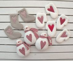 Christmas Ornies, my design: By countrykitty. Snowmen with checked hearts and scarves. (No price or information, just the photo.) They are sooo cute. I am hoping that they will be available again next Christmas. :-)