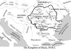 Map of Dacia