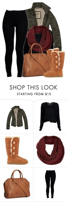 """""""~ Baby you winter time cold. The night is still young, drink that dinner wine slow ~"""" by mindlesscupkake421 ❤ liked on Polyvore featuring Hollister Co., Alexander Wang, UGG Australia, Topshop, H&M and Boohoo"""