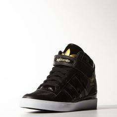 adidas - FORUM UP W Black   Black   Metallic Gold B35824 Adidas Official 8b72afdd2