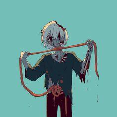 死にたいゾンビ zombie: i want to die Dark Art Illustrations, Dark Art Drawings, Illustration Art, Aesthetic Drawing, Aesthetic Anime, Sad Anime, Anime Art, Desenhos Halloween, Sun Projects