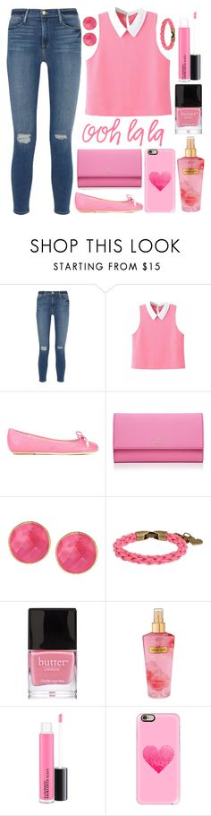 """""""#459"""" by lost-in-a-daydr3am ❤ liked on Polyvore featuring Frame, Moschino, Kate Spade, Saachi, L4K3, Butter London, Victoria's Secret, MAC Cosmetics and Casetify"""
