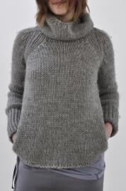 pullover knitting inspiration -no pattern Knitting Designs, Knitting Projects, Crochet Cardigan, Knit Crochet, Chunky Cardigan, Knitting Yarn, Hand Knitting, Simple Knitting, Moda Crochet