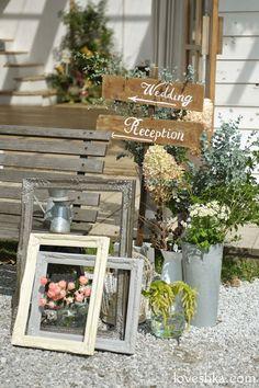 real wedding / 実際のプロデュース / garden / display / flame / シャビー / 看板 / ウェディング / 結婚式 / wedding / オリジナルウェディング / プティラブーシュカ / トキメクウェディング