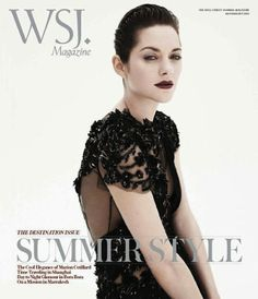 Marion Cotillard Darkly Pouts for WSJ Magazine