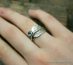 Sage Leaf Ring with London Blue Topaz…Engagement Ring Wedding Band Promise Ring – Rings Quartz Jewelry, Gemstone Jewelry, Jewelry Rings, Silver Jewelry, Jewellery, Diamond Anniversary Bands, Diamond Wedding Bands, Wedding Rings, Vintage Rose Gold