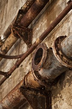Rusty pipes in the Underworld Laser Tag, Rust Never Sleeps, Rust In Peace, Rusty Metal, Abandoned Factory, World Of Color, Pipes, Architecture Art, Tattoo Quotes