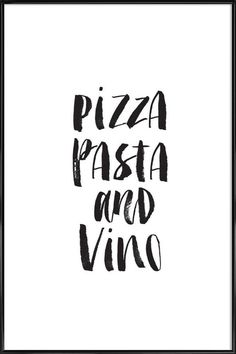 Pizza Pasta And Vino | JUNIQE