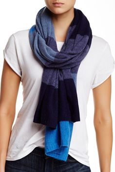 Pure Cashmere Knit Scarf by Blue Pacific on @nordstrom_rack 200.00/100.00