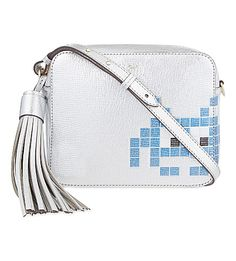 92c1be08a1d ANYA HINDMARCH Space Invader Leather Cross-Body Bag.  anyahindmarch  bags   shoulder bags  leather  metallic